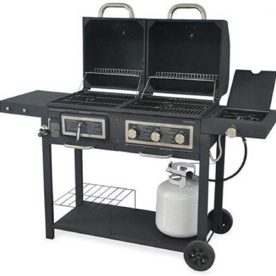 Durable Outdoor Barbeque & Burger Gas/Charcoal Grill Combo